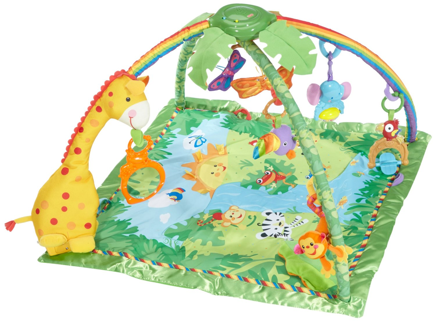 Tapete Safari Fisher Price : Fisher-Price Rainforest Melodies & Lights Deluxe Gym